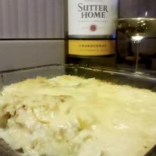 Fish Casserole with White Wine CreamSauce