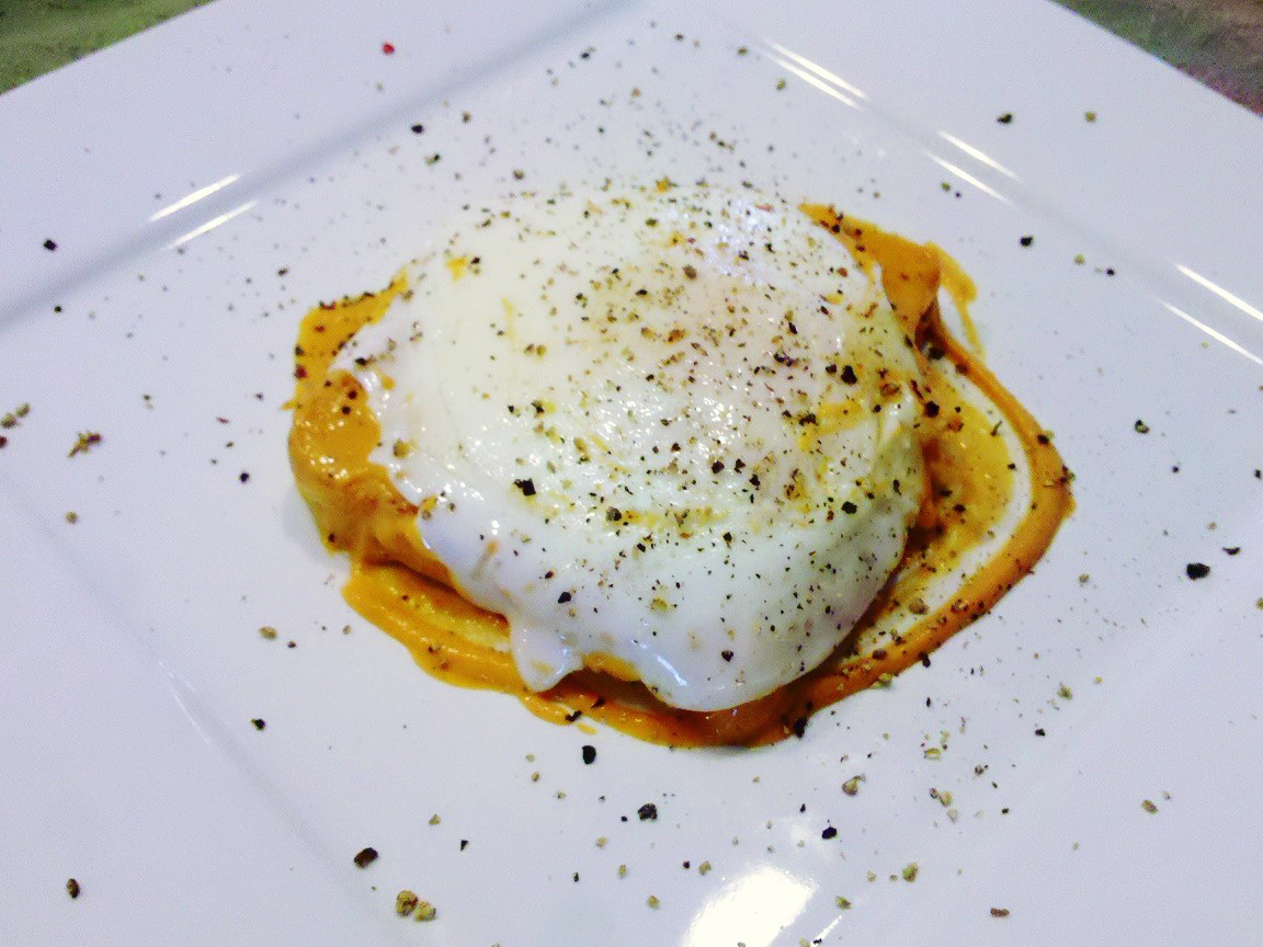 Spanish Romesco Sauce with a Fried Egg on Toasted Italian Bread ...