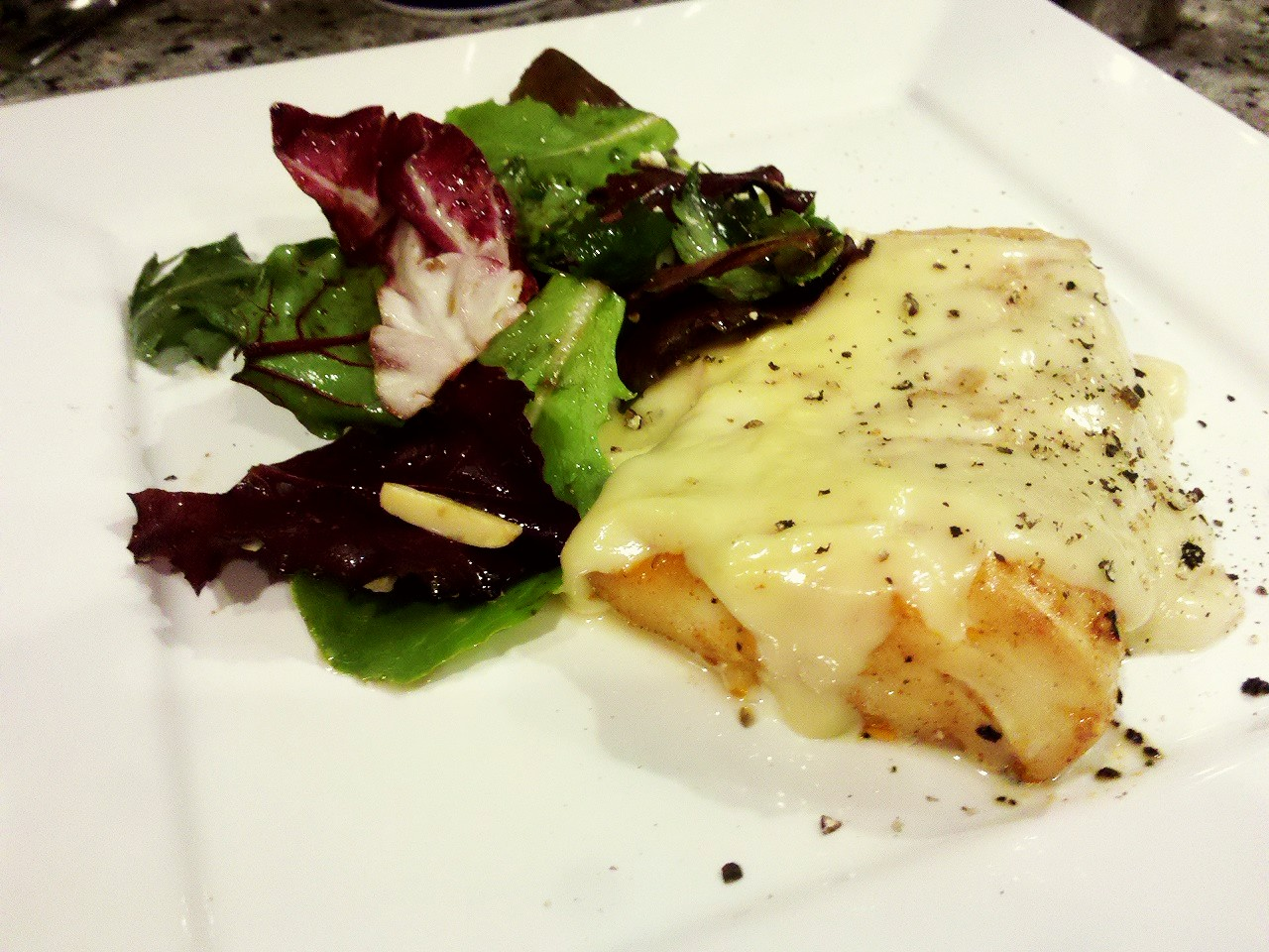 Tarragon wine cream sauce over spicy baked cod unwind for Sauce for cod fish