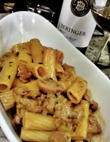 Mushroom Wine Sauce SausageRigatoni