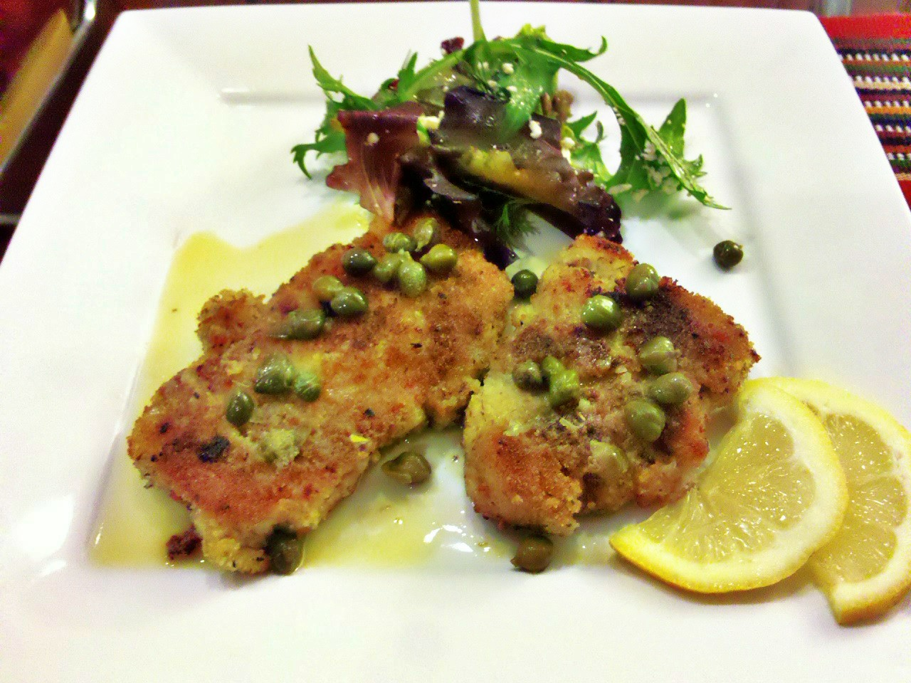 Chicken Scaloppine with Wine Sauce and Capers | unwind cooking
