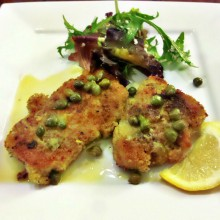 Chicken Scaloppine with Wine Sauce and Capers