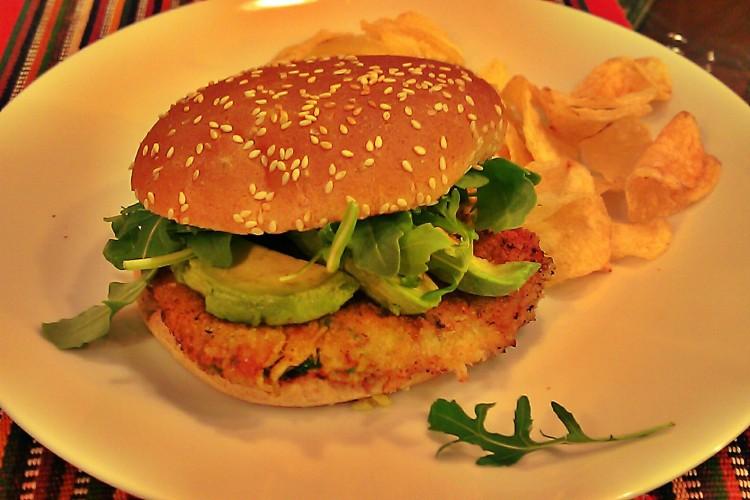 Avocado Chili Lime Crab Burger