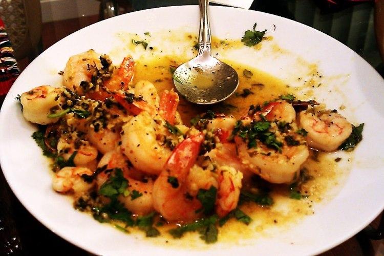 sake shrimp scampi