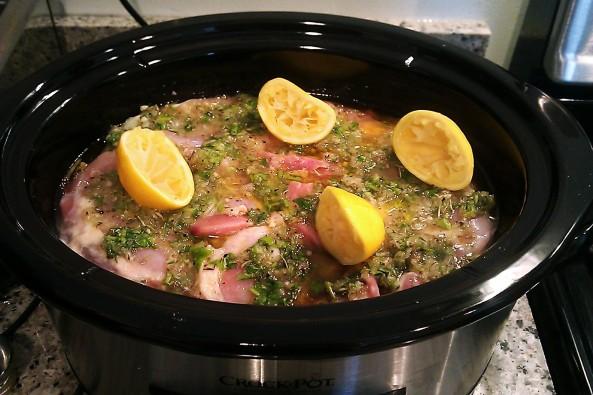 Citrus Cilantro Garlic Chicken Crock Pot