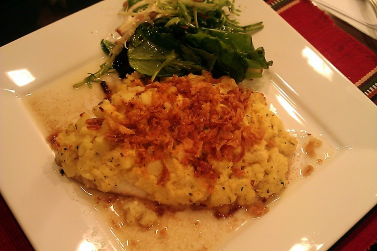 Parmesan Potato Crusted Tilapia