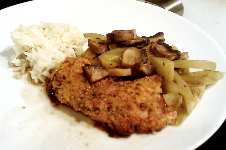 Crispy Chicken with Fennel