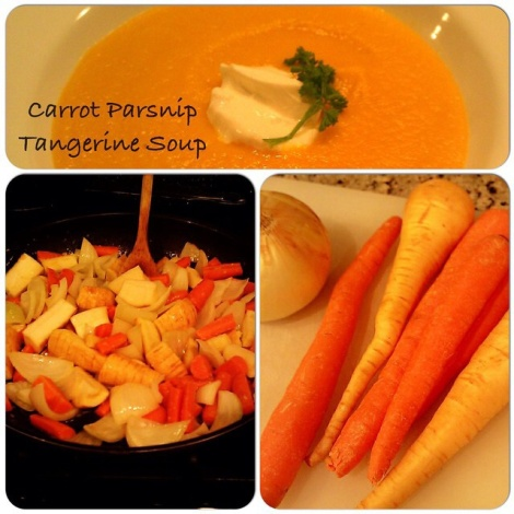 Gingered Carrot Parsnip Tangerine Soup