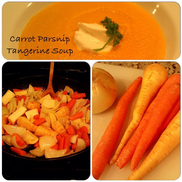 carrot parsnip tangerine soup